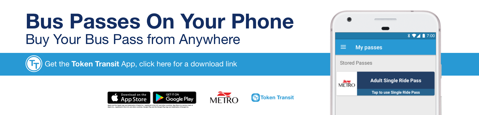 Buy your bus pass on your phone with this Token Transit app!