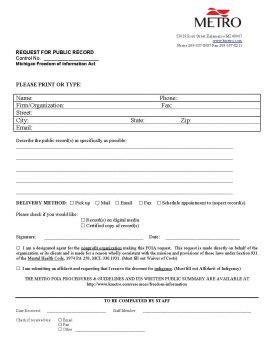 FOIA Request for Public Record